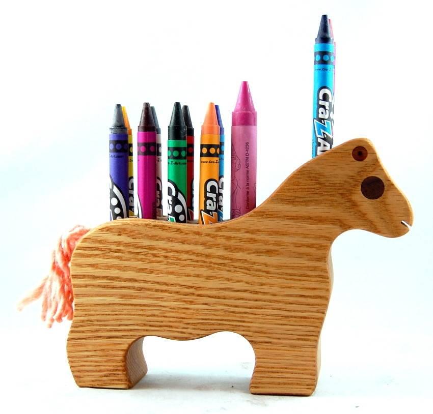 Alain Mailhot - Sculpteur Horse - Wax crayons holder