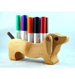 Alain Mailhot - Sculpteur Porte-crayon feutre - Chien