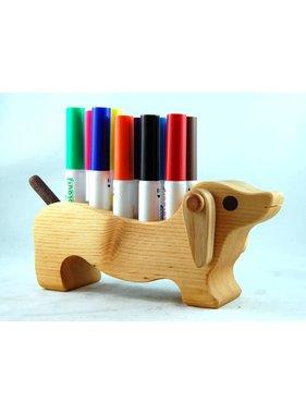 Alain Mailhot - Sculpteur 1 Porte-crayon feutre - Chien