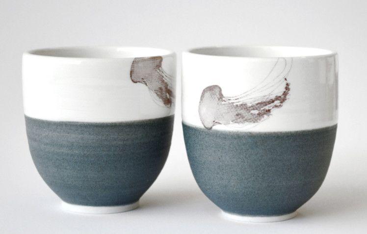 Catherine De Abreu  Small Tea Bowl Jellyfish