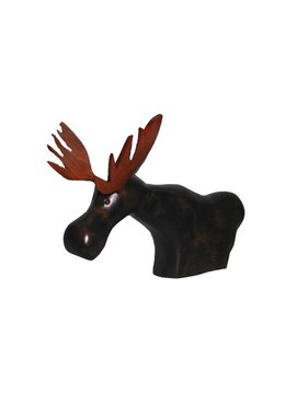 CAn Moose wood carving Y750 - Large