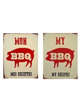 Affiche mon BBQ mes recttes