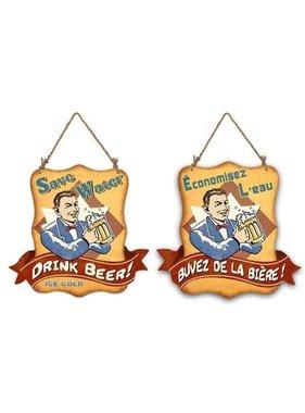 Affiche buvez de là bière