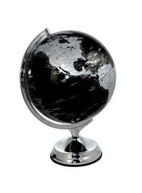 Globe terrestre lumineux noir en anglais