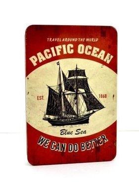 Livre de métal - Océan Pacifique