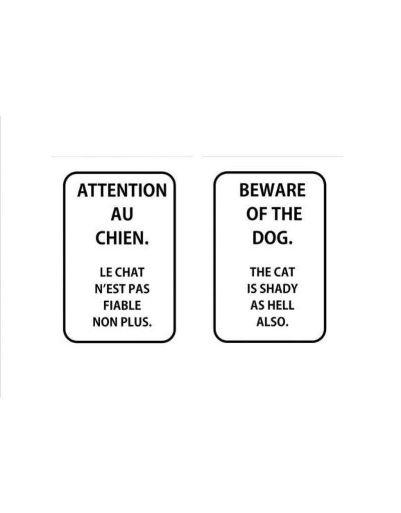 Affiche Attention au chien