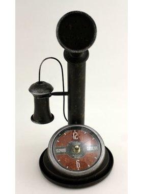 Vintage metal phone clock