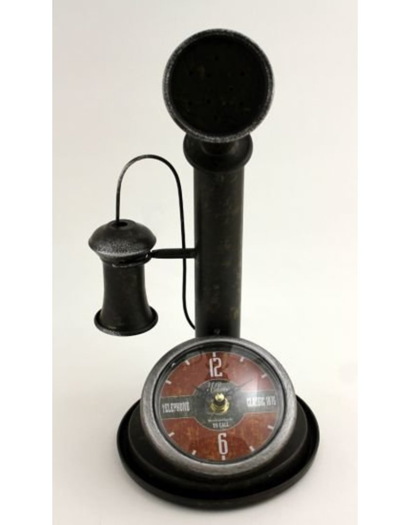 Horloge téléphone vintage 29008