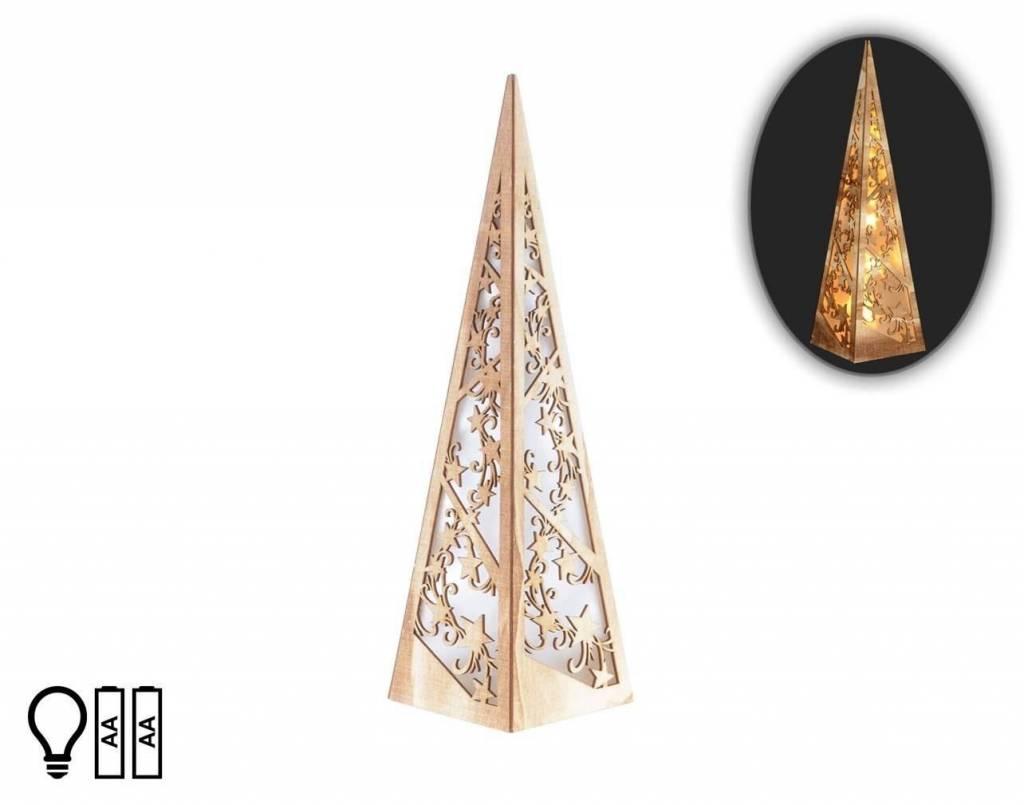Wood LED Star