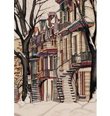 Renee Bovet Framed Reproduction -  Cherrier street 9x7