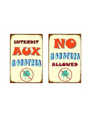 Metal poster No Monsters
