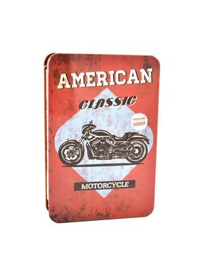 Cahier de notes métal moto.