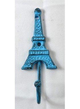 Crochet tour eiffel en fonte bleu