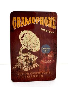 Livre metal retro gramophone