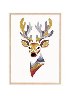 Charlie the Deer 12 x 18
