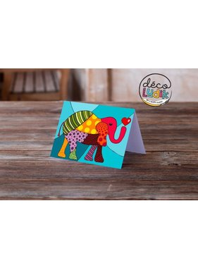 L 'éléphant Carte de souhait