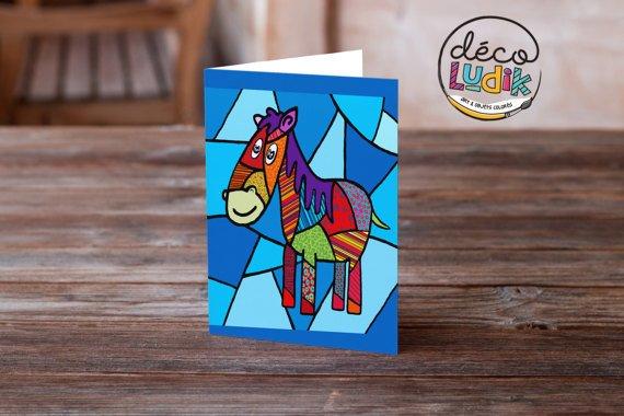 Le cheval carte de souhait