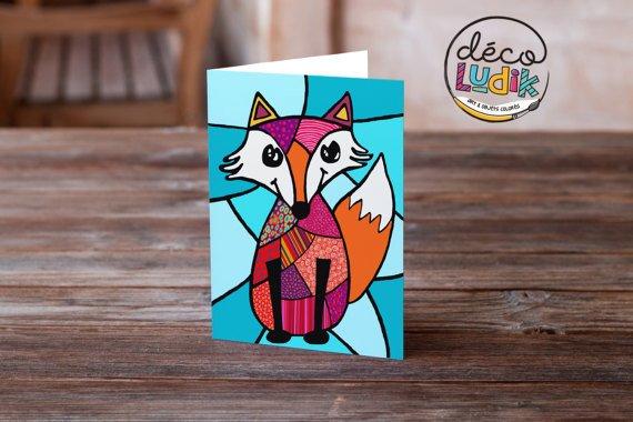 Le renard Carte de souhait