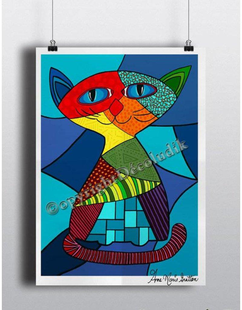 Le chat 8 1/2 x 11