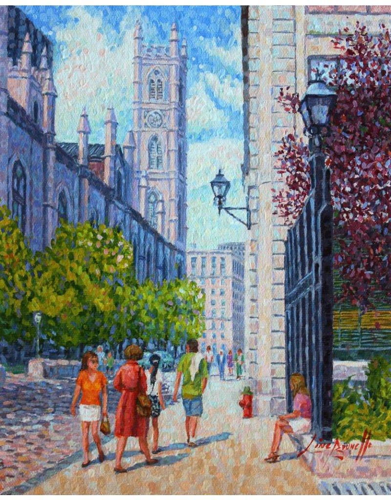 Line Brunelle L'inspirante Basilique Notre Dame - Vieux Montréal