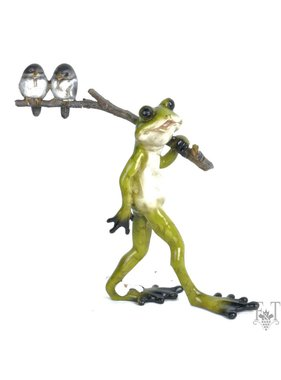 Walking Frog with Stick Figurine