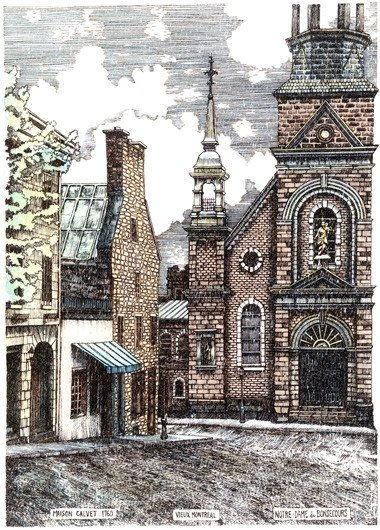 Calvet house  Bonsecours church L8MC 8 1/2 x 11