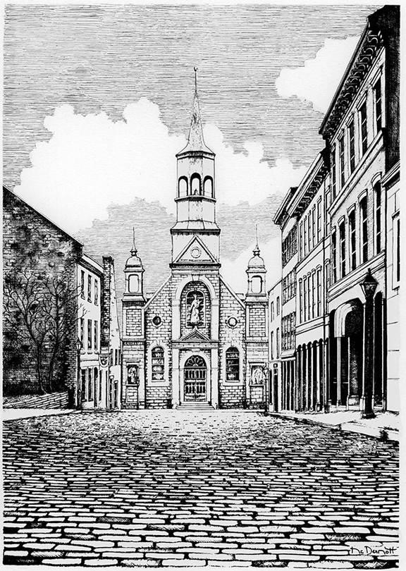 Bonsecours Church L10M 8 1/2 x 11