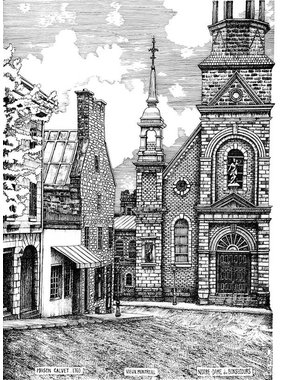 Calvet House Bonsecours church L8M 8 1/2 x 11