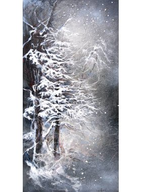 "Carole Laurence Winter Night 24""x12"""