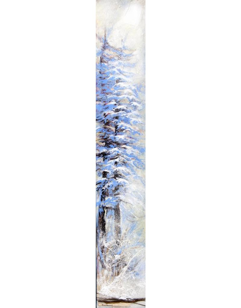 """Carole Laurence Arbre en hiver 6""""x36"""""""