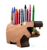 Alain Mailhot - Sculpteur Pencil holder - Hippopotamus