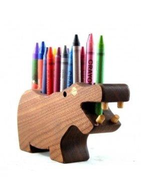 Alain Mailhot - Sculpteur 1 Porte-crayon de cire - Hippopotame