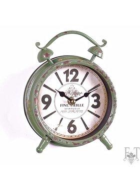 Classical Table Alarm Clock, Green