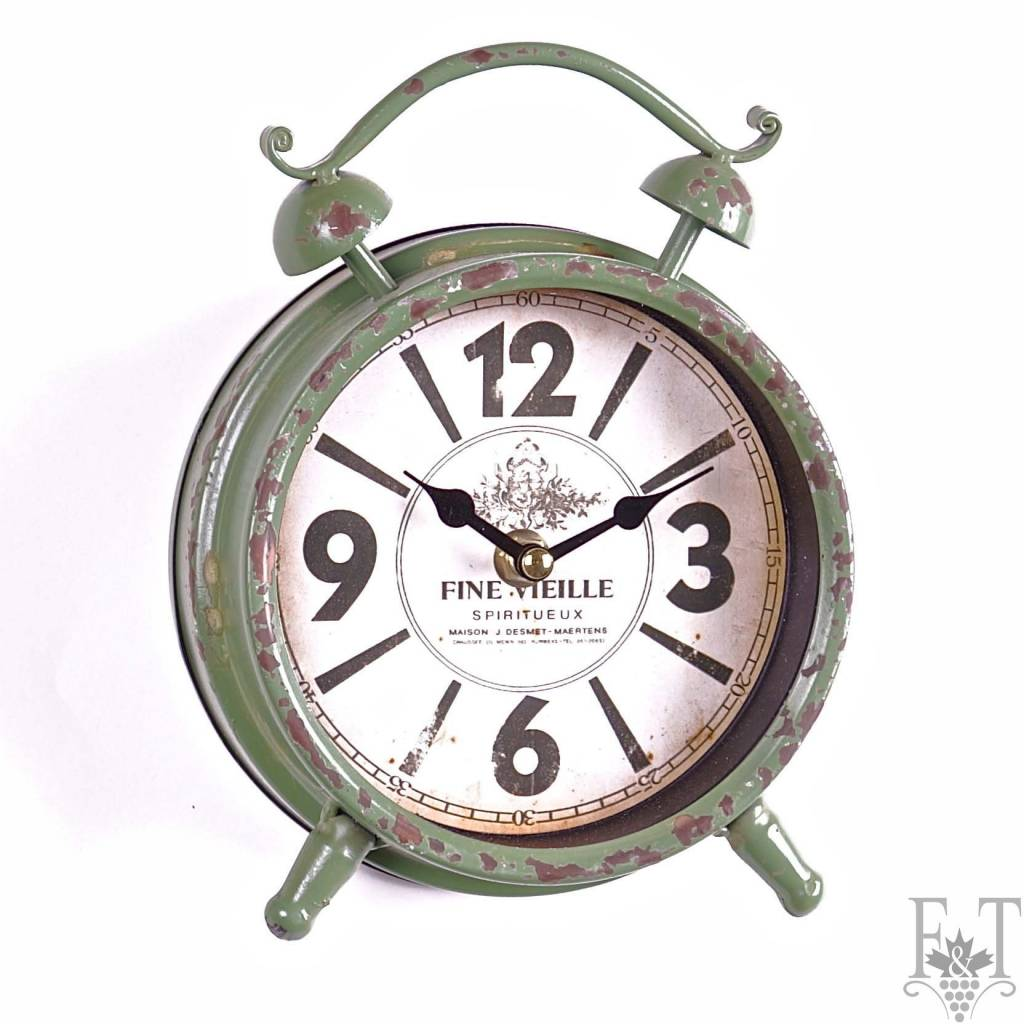 Classical Table Alarm Clock, Green