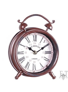 Classical Table Alarm Clock, Red