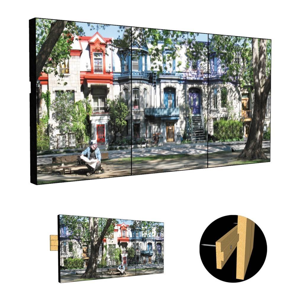 Daniel Jussaume Triptych - Square  Saint Louis