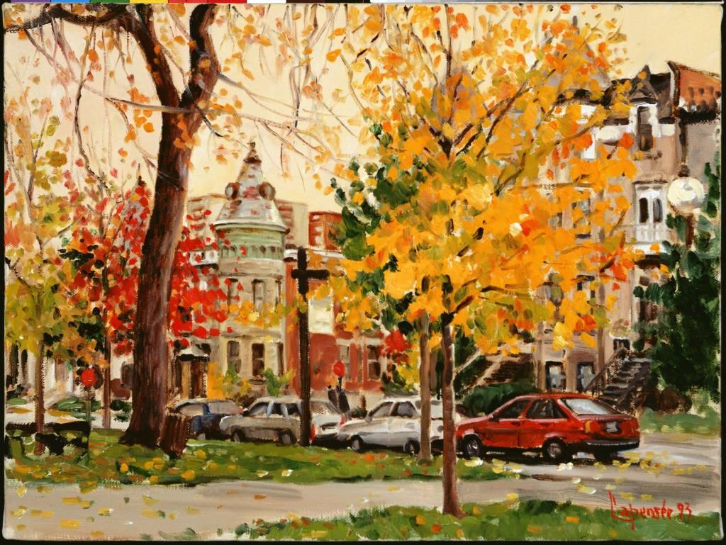 Jour d'automne, carré Saint-Louis - Casse tête de M. Lapensée