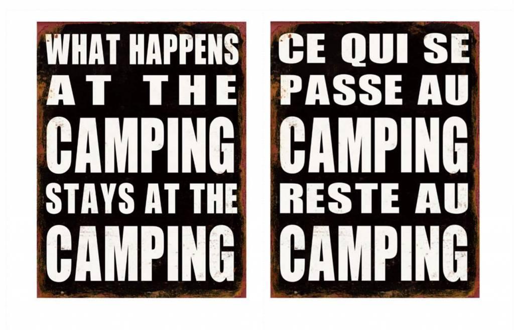Plaque Camping