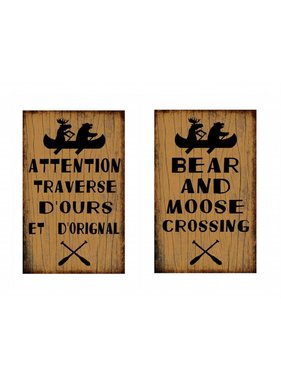 Plaque Bear Moose Crossing 633-155