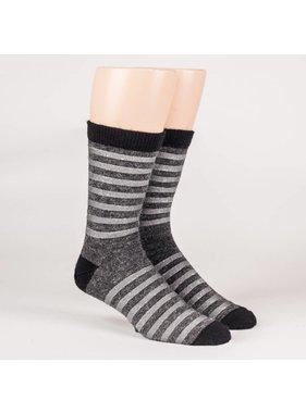 1 Dress striped socks - 70% Alpaca Grey