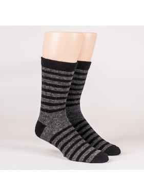 Dress striped socks - 70% Alpaca black