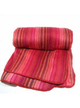 Jeté de laine Alpaga -  Rouge