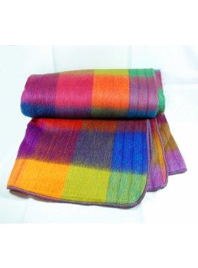1 Jeté de laine 70% Alpaga -  Arc-en-ciel