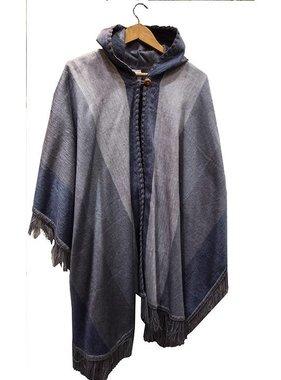Poncho à capuche en laine d'Alpaga - Choix de couleur