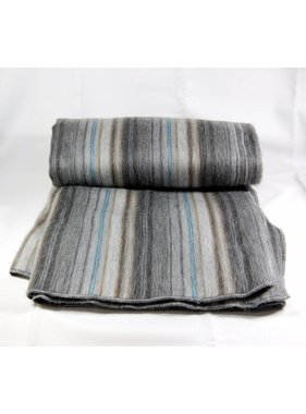 Alpaca wool Throws  - Grey and black