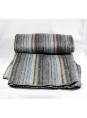 Jeté de laine Alpaga -  Gris et noir