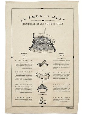 1 Smoked meat Tea towel