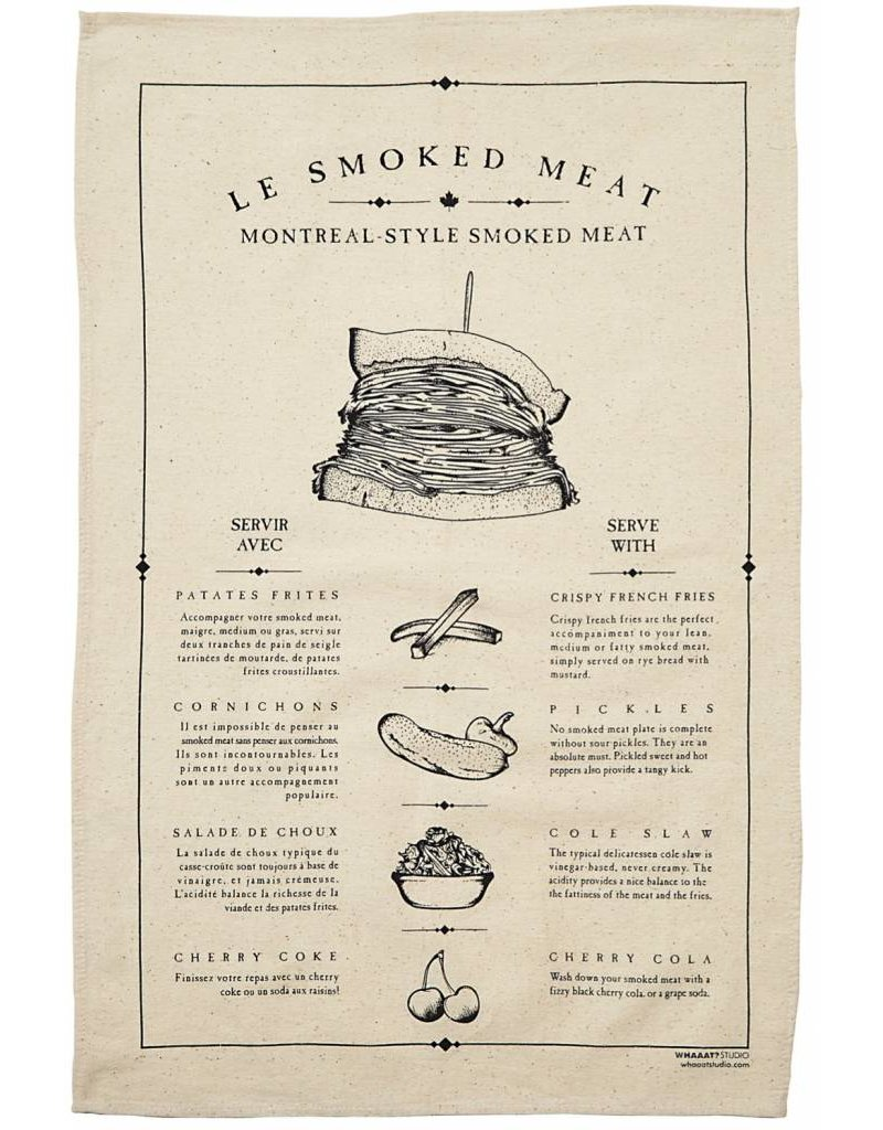 Serviette de table - Smoked meat