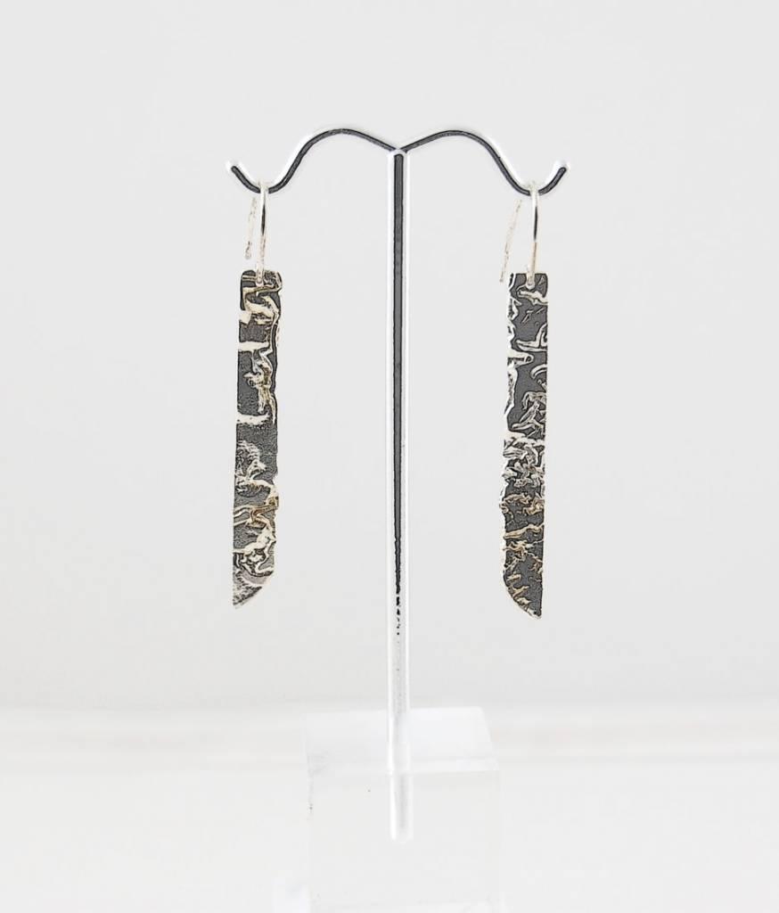 Sabine Pouquet Joaillière/Jewellery BO tige pendant plat - BoPP