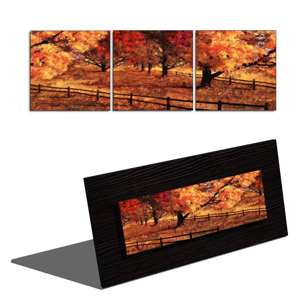 Daniel Jussaume Autumn in Montreal - Triptych